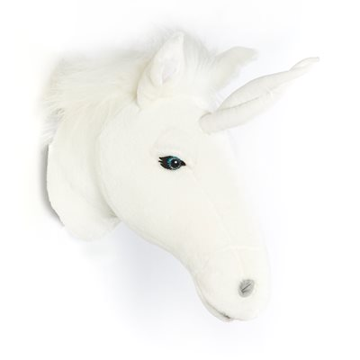 KIDS UNICORN PLUSH ANIMAL HEAD WALL DECOR