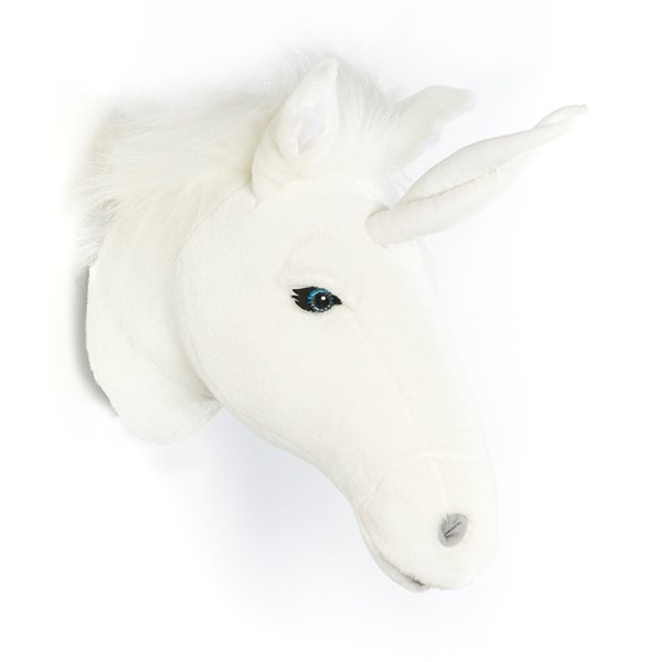 Faux Fur Animal Head in Unicorn Design