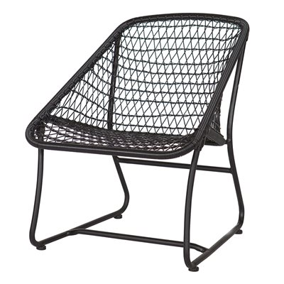 VIGO LOUNGE RATTAN CHAIR in Black