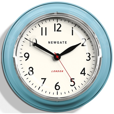 NEWGATE COOKHOUSE Wall Clock in Blue