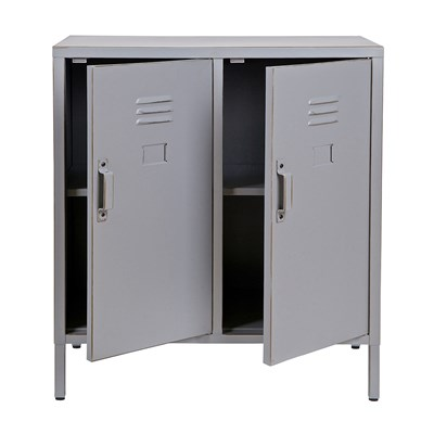 Max Metal Locker 2 Door Cabinet In Dove Grey Home Office Cuckoolan .