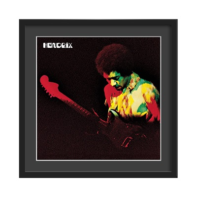 JIMI HENDRIX FRAMED ALBUM WALL ART in Band of Gypsys Print