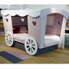 Pink and White Wooden Kids Bed by Belgium Designer