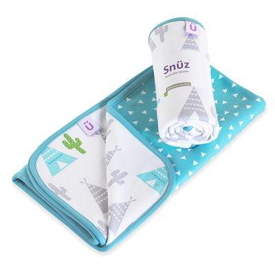 Snuz Reversible Baby Blanket in Rootin Tootin