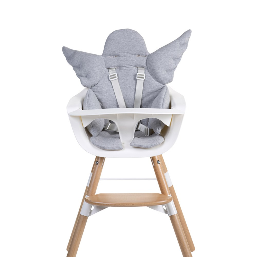 Pleasing Angel Wings High Chair Cushion In Grey Interior Design Ideas Clesiryabchikinfo
