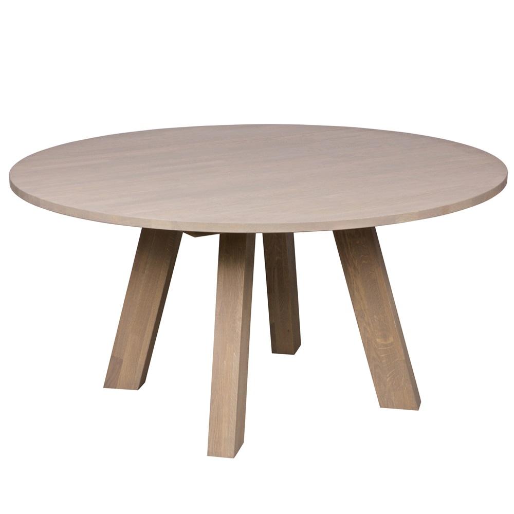 Rhonda Round Dining Table in Untreated Oak - Dining | Cuckooland