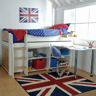 URBAN KIDS MID SLEEPER 5 BED in Solid Pine & Birch Wood