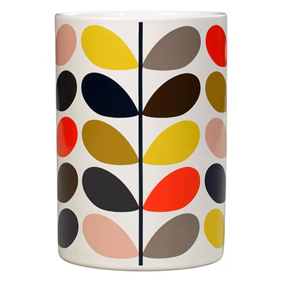 ORLA KIELY CERAMIC UTENSIL POT in Multistem Print