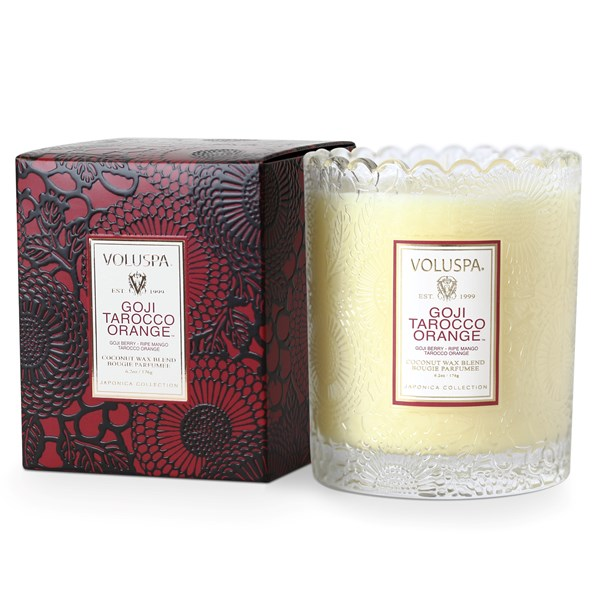 VOLUSPA Scented Candle - Japonica Glass Candle in Goji & Tarocco Orange