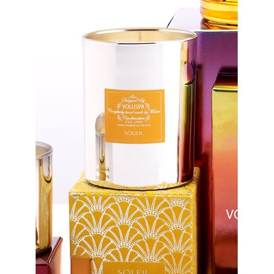 VOLUSPA SCENTED CANDLE in Tangerine (Seasons-Metallic)