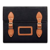 VARSITY Leather Satchel iPad Case in Black by Covert