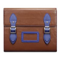 VARSITY Leather Satchel iPad Case in Brown by Covert