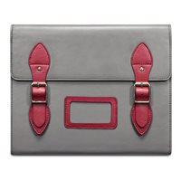 VARSITY Leather Satchel iPad Case in Grey by Covert