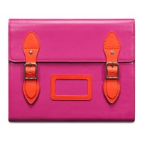 VARSITY Leather Satchel iPad Case in Pink by Covert