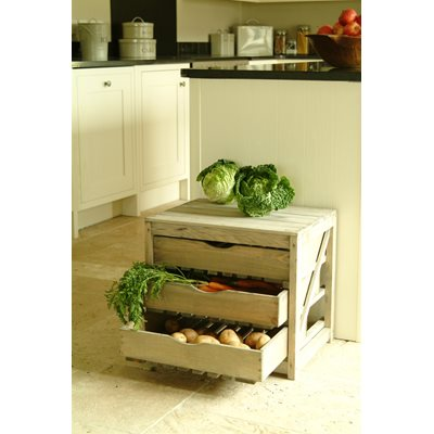 VEGETABLE STORAGE UNIT 3 DRAW in Pine