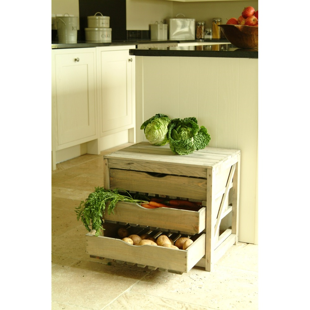 Vegetable Storage Unit 3 Draw Unique Kitchenware