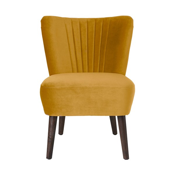 Copenhagen Upholstered Velvet Lounge Chair in Dijon