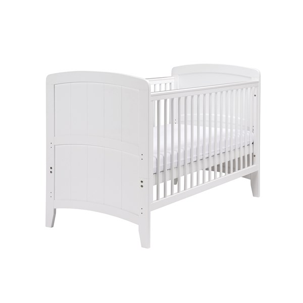 East Coast Baby and Toddler Cot Bed in White Venice Design