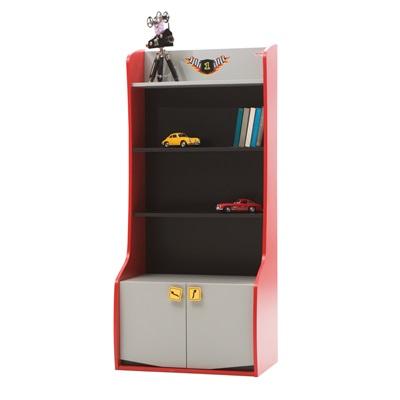 CHILDREN'S BOOKCASE in Red Vento Design