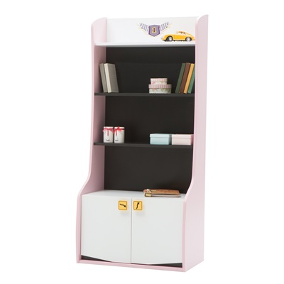 CHILDREN'S BOOKCASE in Pink Vento Design