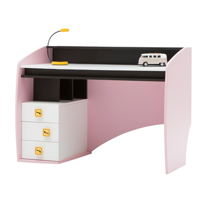 CHILDREN'S STUDY DESK in Pink Vento Design