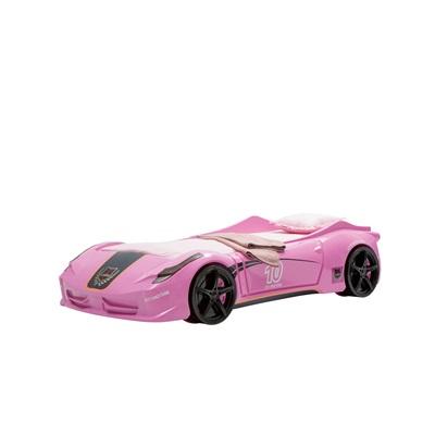 V8 CHILDRENS CAR BED in Pink Vento Design