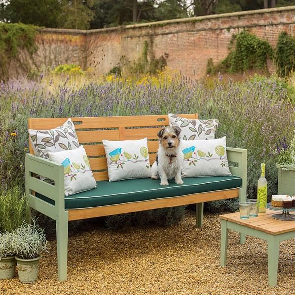 3 Seat Vintage Wooden Garden Bench