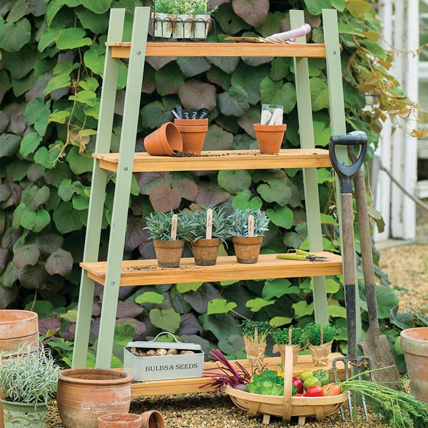 Vintage Verdi Garden 4 Shelf Plant Stand