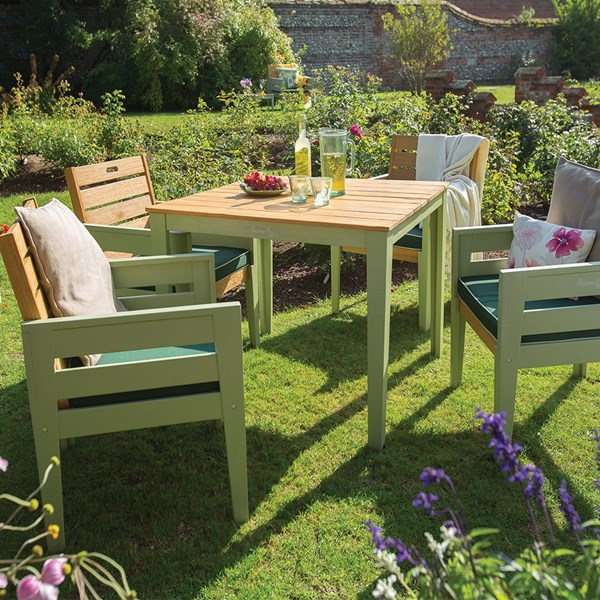 Wooden Vintage Garden Dining Chairs and Table