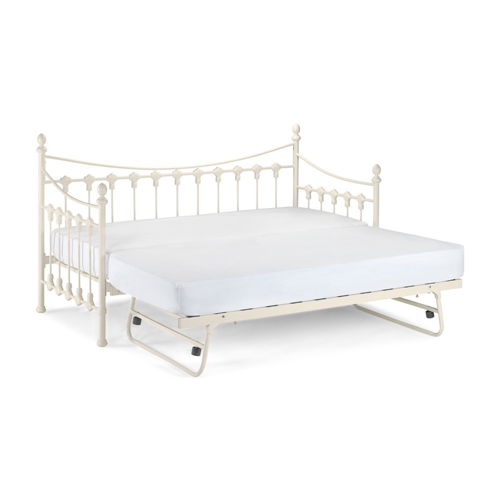 ... Versailles-Daybed-Trundle-White.jpg ... - Metal Frame Kids Day Bed & Single Pull Out Bed - Beds Cuckooland