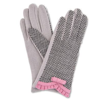 POWDER VICTORIA WOOL GLOVES in Candy Pink