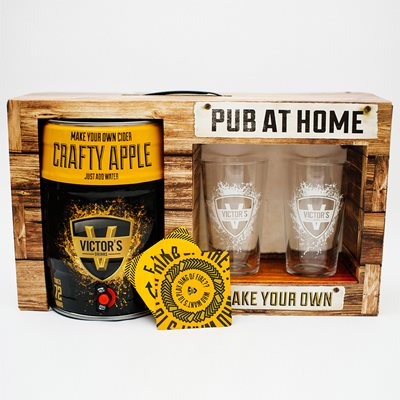VICTOR'S DRINKS CRAFTY APPLE CIDER PUB AT HOME KIT