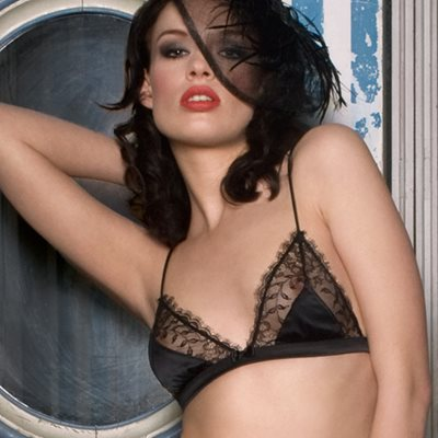 MAISON CLOSE French Lace Villa Satine Black Triangle Bra