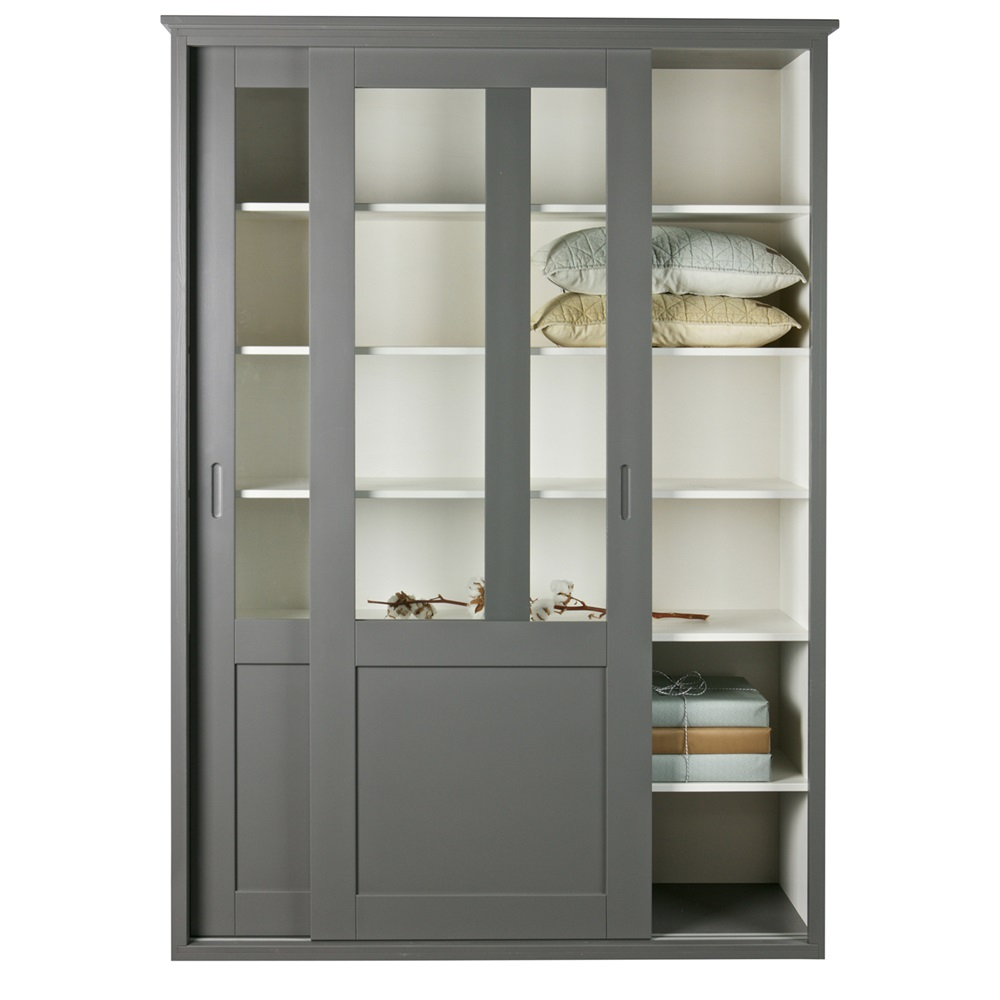 and in after china farmhouse country painted grey cabinet hutch graphite