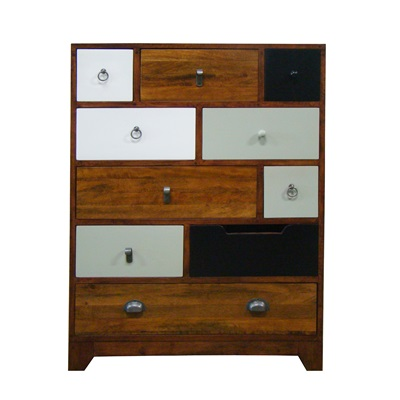 BRITISH VINTAGE CHEST OF 10 DRAWERS in English Cherry Finish