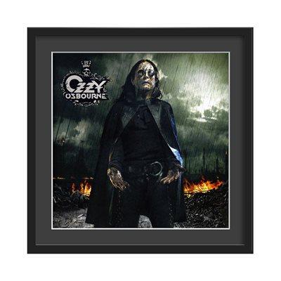 OZZY OSBOURNE FRAMED ALBUM WALL ART in Black Rain Print