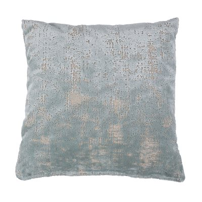 SARONA VELVET CUSHION in Vintage Blue