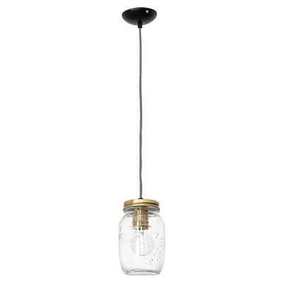 SINGLE CEILING VINTAGE PRESERVE JAR LIGHT