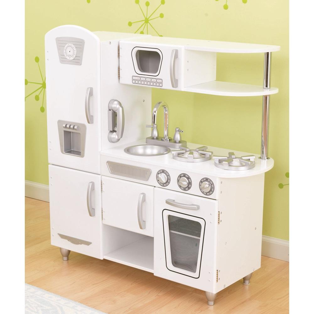Kids Vintage Kitchen In White - Kid Kraft | Cuckooland