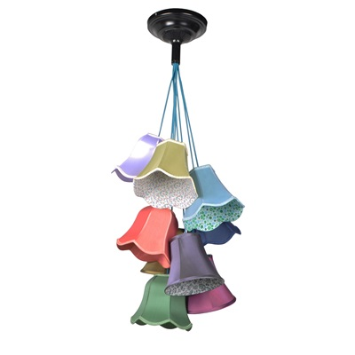 RETRO GRANNY CEILING LIGHT in Cotton Mix