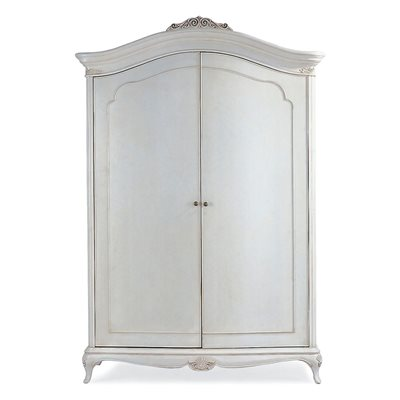 WILLIS & GAMBIER IVORY WIDE DOUBLE ARMOIRE