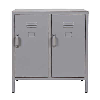 MAX METAL LOCKER 2 DOOR CABINET in Dove Grey