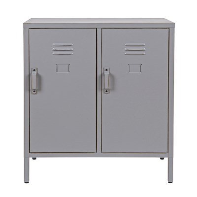 Vintage Two Door Cabinet Grey ...