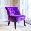 Velvet Occasional Tub Chair in Violet