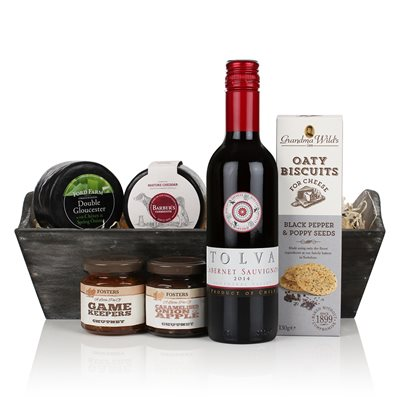Cheese & Wine Tray Luxury Gift Hamper