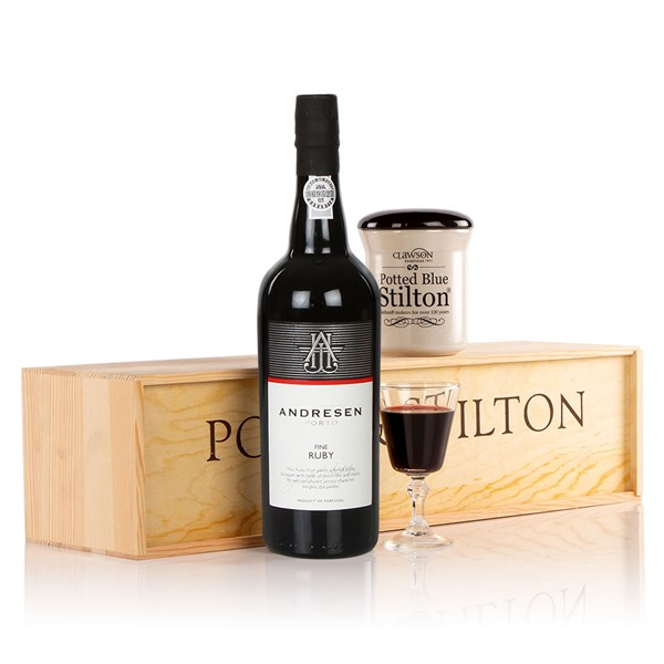 Port and Stilton Luxury Gift Hamper Box