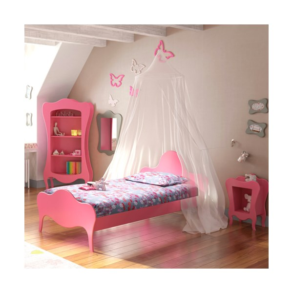Quirky Childrens Single Bed in Volute Design by Mathy By Bols
