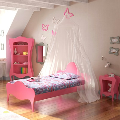 KIDS SINGLE BED in Volute Design