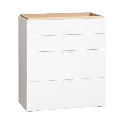 VOX 4YOU CHEST OF DRAWERS in White & Oak Effect
