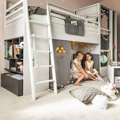 Vox Nest Kids Cabin Bed in Larch Effect & Graphite